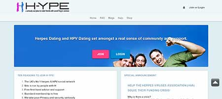 Dating websites for people who have herpes